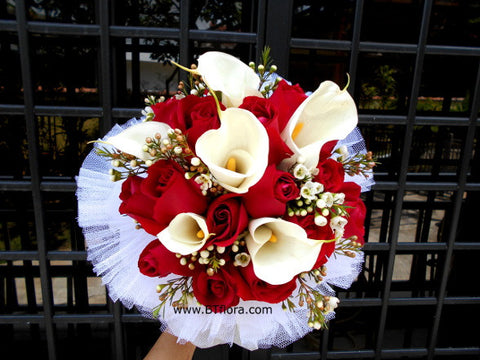 Calla Lily with Rose  - WED0176