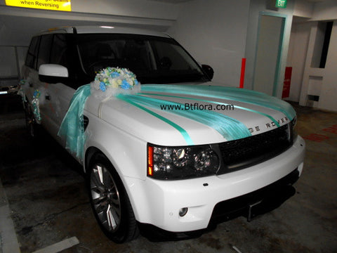 Tiffany/White/Blue Creative Theme Car Decoration    - WED0741