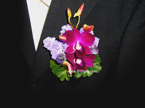 Orchid with Diamond Corsage  - WED0259