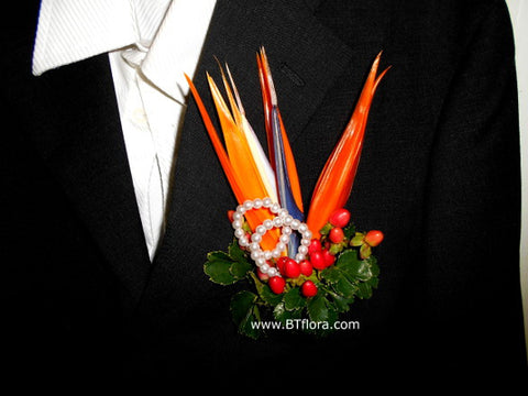 Bird of Paradise corsage- WED0257