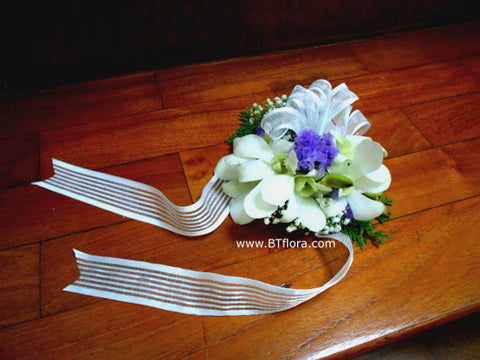 Fresh Orchid Wrist Corsage - WED0382
