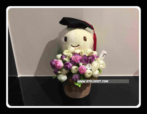 Graduation Turtle in a vase    - BWF2366