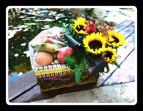 Sunflower & Fruit Baskets  - FRB5529