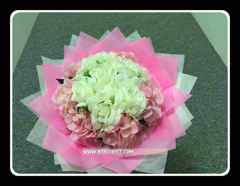 Artificial Rose & Hydrangea Bouquet -ART8066