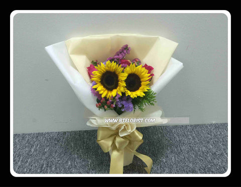 Twin Sunflower Bouquet - FBQ1065