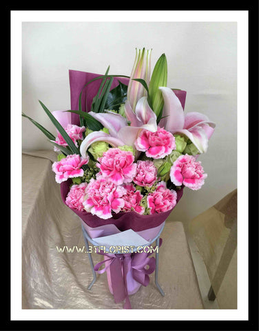 Carnation & Lily Bouquet      - FBQ1205
