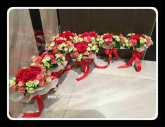 Small Artificial Bridal Bouquet   - WED0421