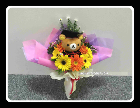 Graduation Rilakkuma Bouquet (Fresh Flower)  - BBQ1340