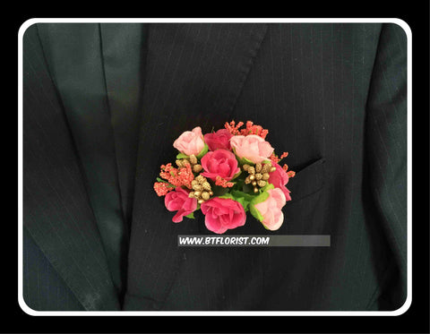 Artificial Pink rose Corsage  - ART0468