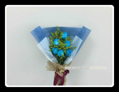 Simple Blue Rose Bouquet II- FBQ1470