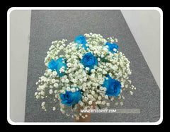 Simple Blue Rose Bridal Bouquet - WED0435