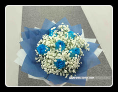 Simple Blue Rose Bouquet- FBQ1469