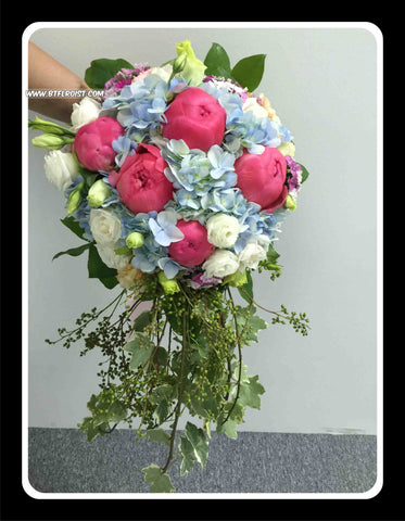 Special Peony Bridal Bouquet- WED0247