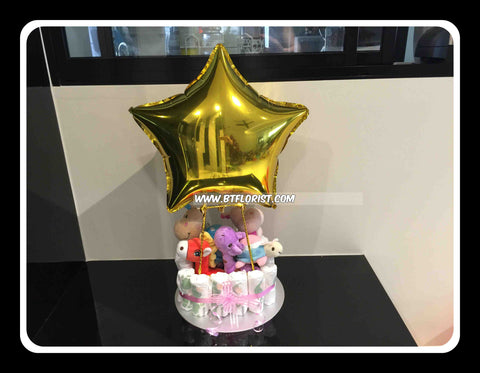 Hot Air Balloon Diaper Cake  - DIA3365