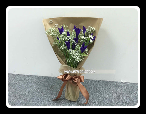 Simple Iris Bouquet  - FBQ1262