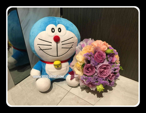 Doraemon w flower Bouquet     - BWF3756