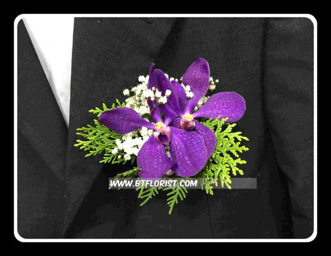 Purple Orchid Corsage - WED0241