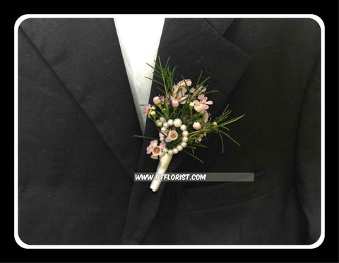 Wax Flower Boutonniere - WED0324