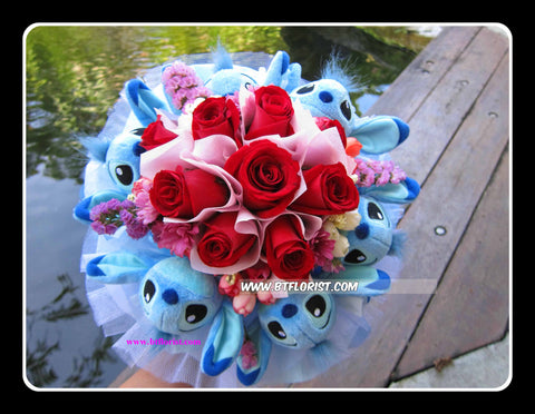 Stitch n Flower Bouquet   - BBQ2059