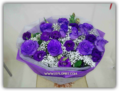 Purple Rose Bouquet - FBQ1204