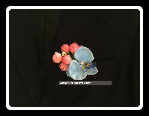 Artificial Orchid Corsage  - ART0455