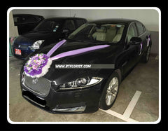 Purple Theme Car Decoration   - WED0748