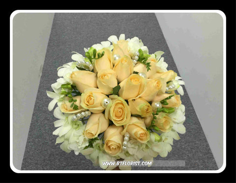 Orchid n Rose Bridal Bouquet  - WED0255