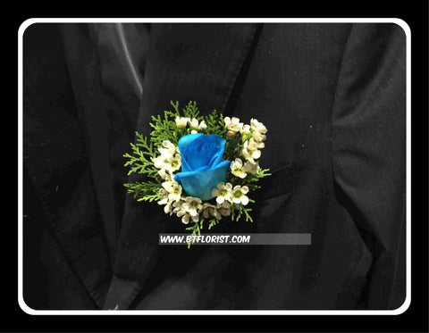 Special Blue Rose Corsage - WED0299