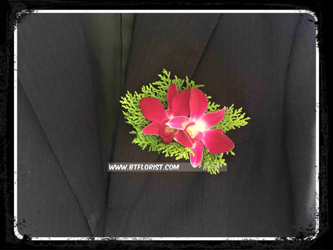 Double Orchid Boutonniere - WED0283