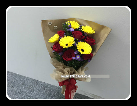 Rose & Gerbera Bouquet  - FBQ1235
