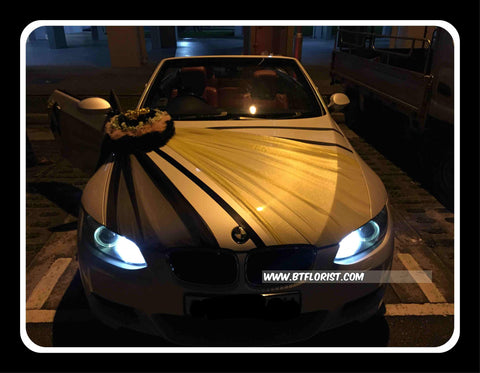 Creative Small Theme Car Decoration( Black/Gold)      - WED0722