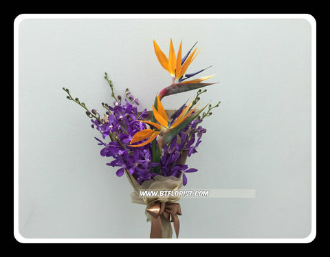 Orchid & Bird of Paradise Bouquet  - FBQ1370