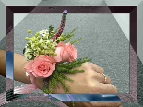 Fresh Rose Wrist Corsage - WED0334