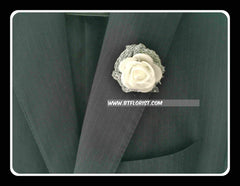 Artificial Rose Boutonniere  - ART0416
