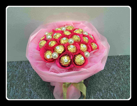 Pink Theme Chocolate Bouquet   - CHO1260val
