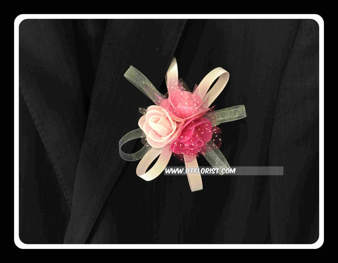 Artificial 3 Rose Corsage  - ART0419