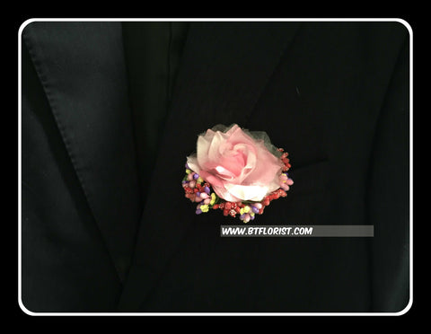 Artificial Silk rose Corsage  - ART0448