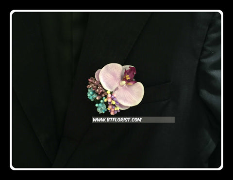 Artificial Orchid Corsage  - ART0457