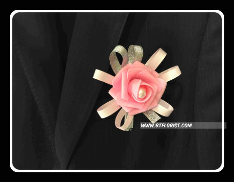Artificial Rose Corsage with Pearl  - ART0418