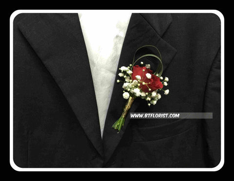 Mini Rose Boutonniere - WED0226
