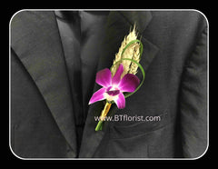 Simple Orchid Boutonniere IV - WED0426