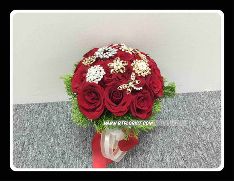 Special Brooch Bridal Bouquet   - WED0339