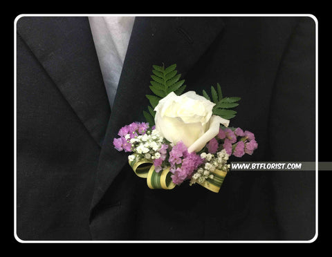White Rose Corsage III - WED0231