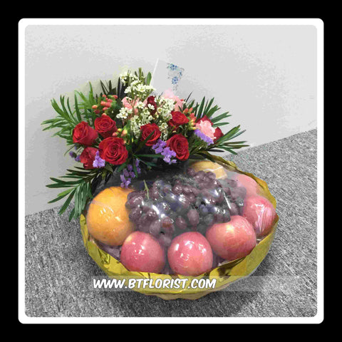 Fruit n Flower Basket   - FRB5569