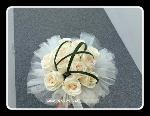 Simple Rose Bridal Bouquet  - WED0131