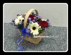 Gerbera & Rose Basket  - FLB5622