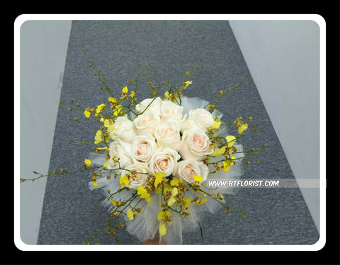 Rose & Orchid Bridal Bouquet  - WED0118