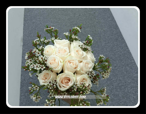 Rose & Wax Flower Bridal Bouquet  - WED0117