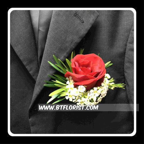Red Rose Corsage V - WED0319