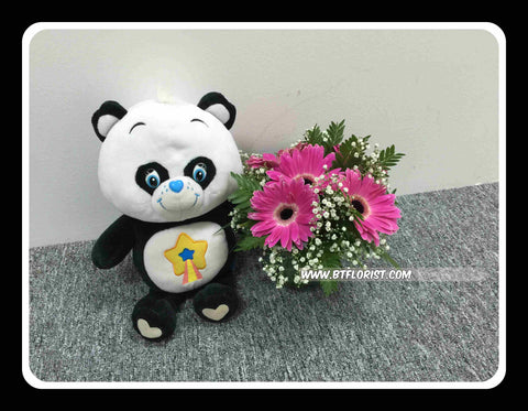 Carebear w Fresh Flower   - BWF3556